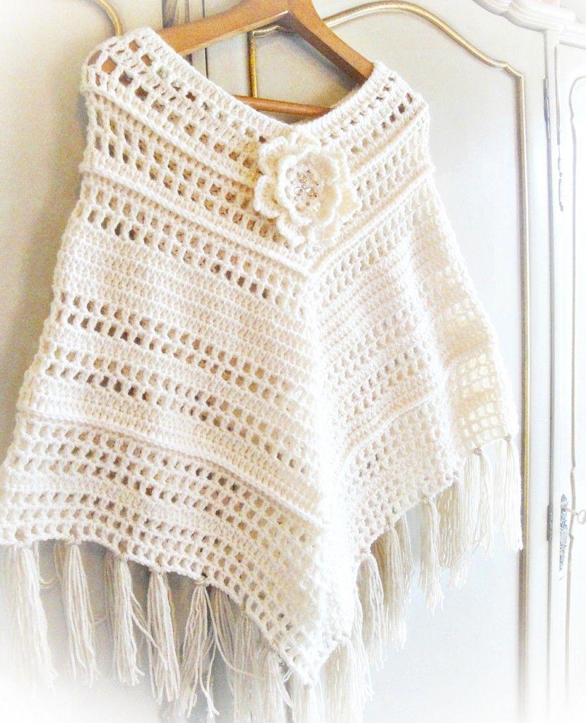 Quick Woman Poncho Crochet Pattern | Crochet | Pinterest | Ponchos ...