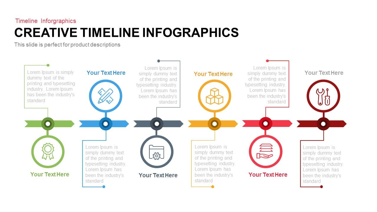 Creative Timeline Infographics Powerpoint And Keynote Template - Template of a timeline