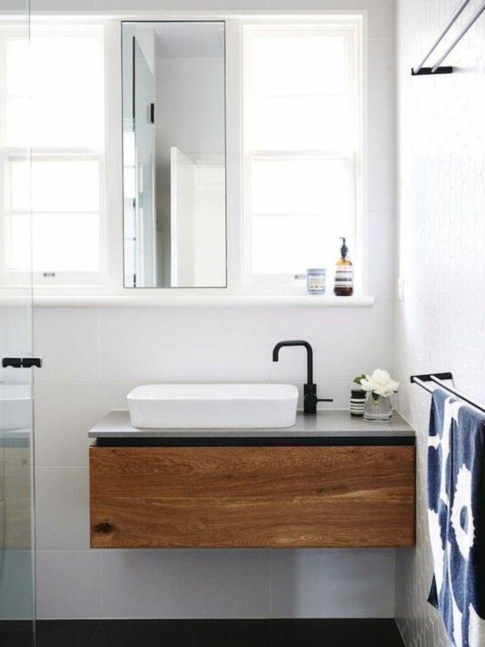 Le porte serviette en 40 photos d\u0027idées pour votre salle de bain - Stratifie Mural Salle De Bain