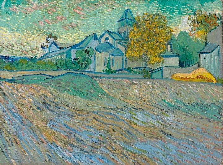 Vincent Van Gogh Van Gogh, View of the Church of Saint-Paul-de-Mausole, October 1889. Oil on canvas. Private collection Legendary actress Elizabeth Taylor purchased this painting in 1963, and for the rest of her life she kept it displayed in her home, above her mantle. After her death in 2011, Taylor's collection was put up for auction at Christie's International in London. Her cherished Van Gogh was purchased by an unnamed buyer for $16 million. Via Van Gogh the life.