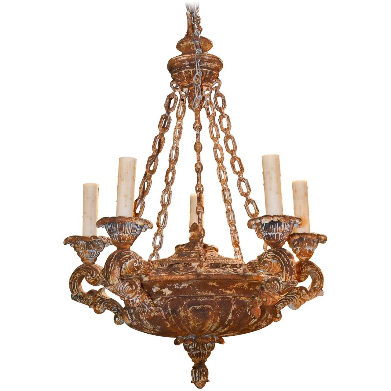 18th Century Style Italian Patinated Chandelier New