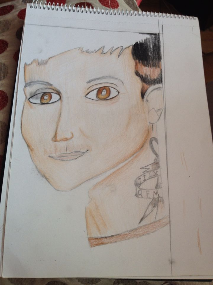 Bad drawing of frank iero not done by Serena O'Neill