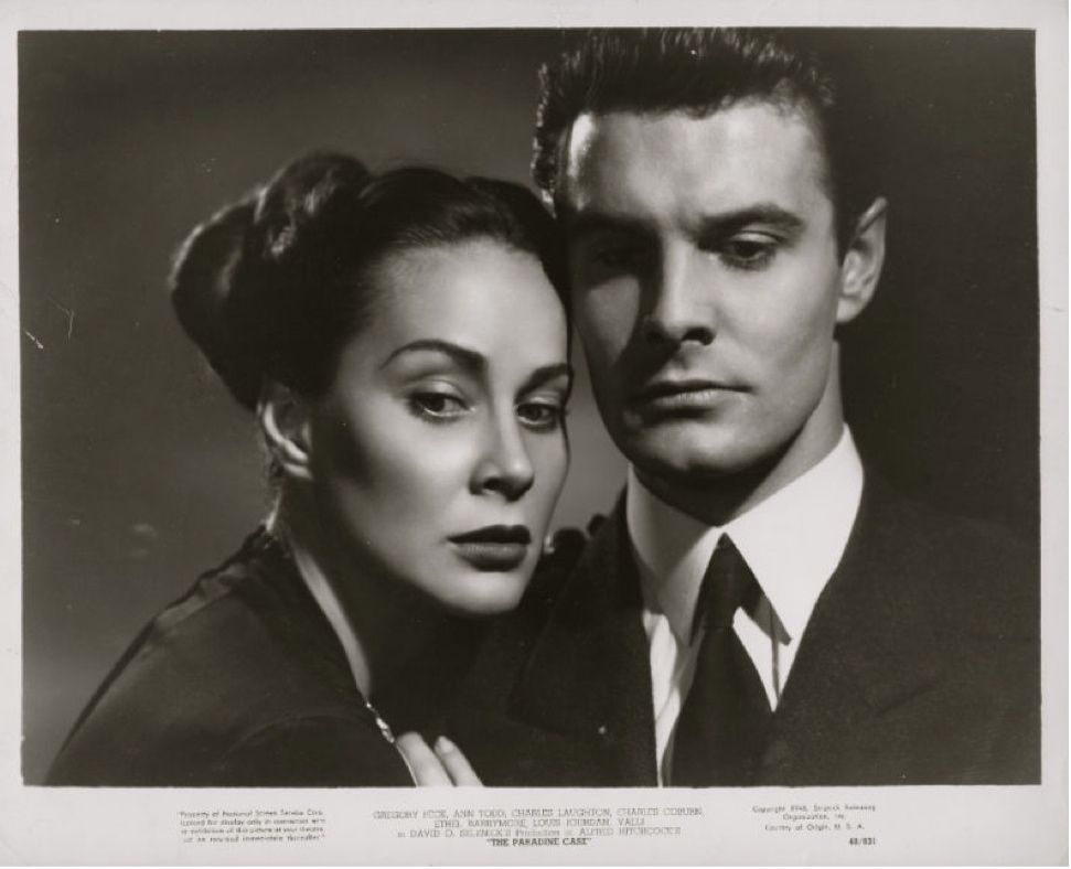 Portrait of Alida Valli and Louis Jourdan for The Paradine Case directed by Alfred Hitchcock, 1947