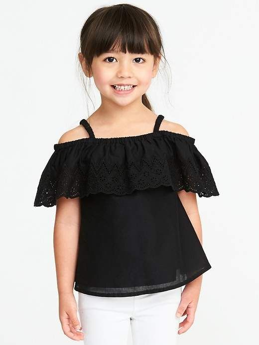 153c0883ea5140 Old Navy Off-the-Shoulder Crochet-Trim Top for Toddler Girls ...