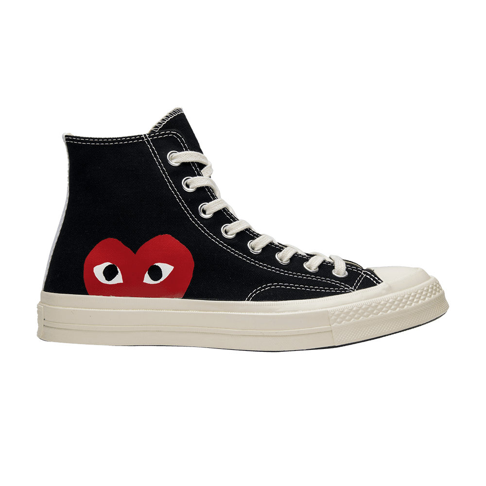 Shop Comme des Garçons x Chuck Taylor All Star High  Play  - Converse on  GOAT. We guarantee authenticity on every sneaker purchase or your money  back. d180b2ee7