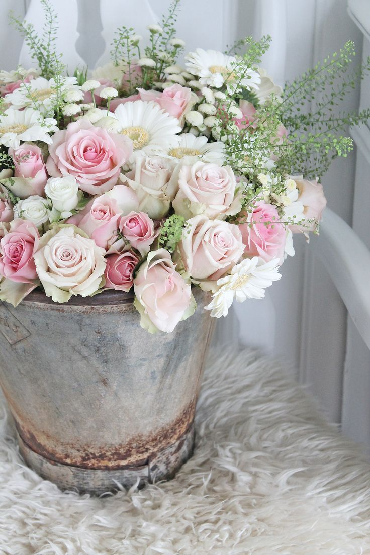 Bucket of the most beautiful flowers | Box of Flowers & Bouquets ...