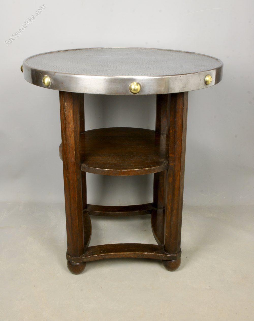 Arts And Crafts Jugendstil Side Table C1920 Antiques Atlas