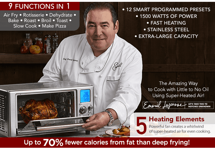 Emeril Power Air Fryer Better Than Convection Ovens