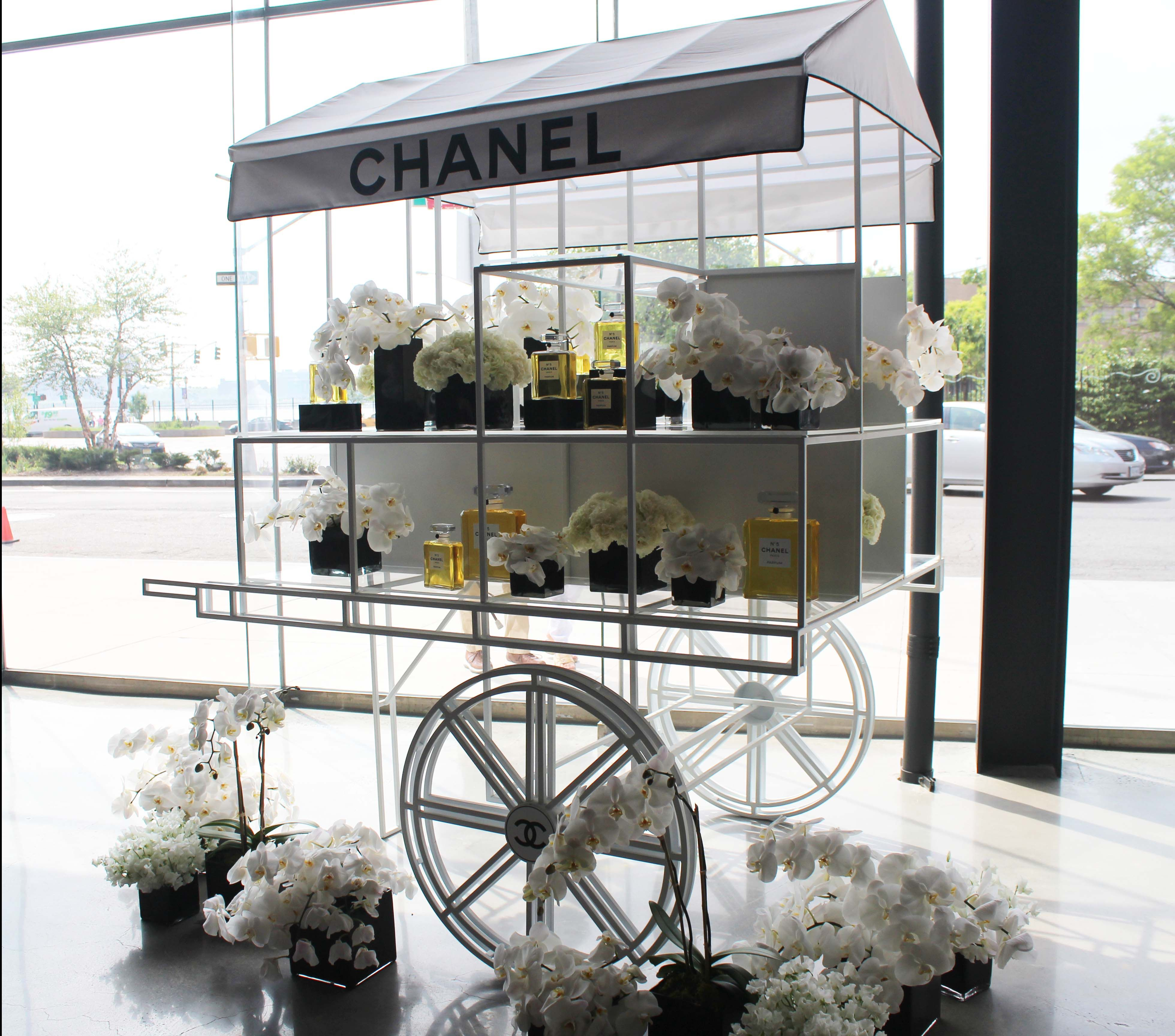 Chanel Flower Cart! At The Chanel Exhibit In Meatpacking