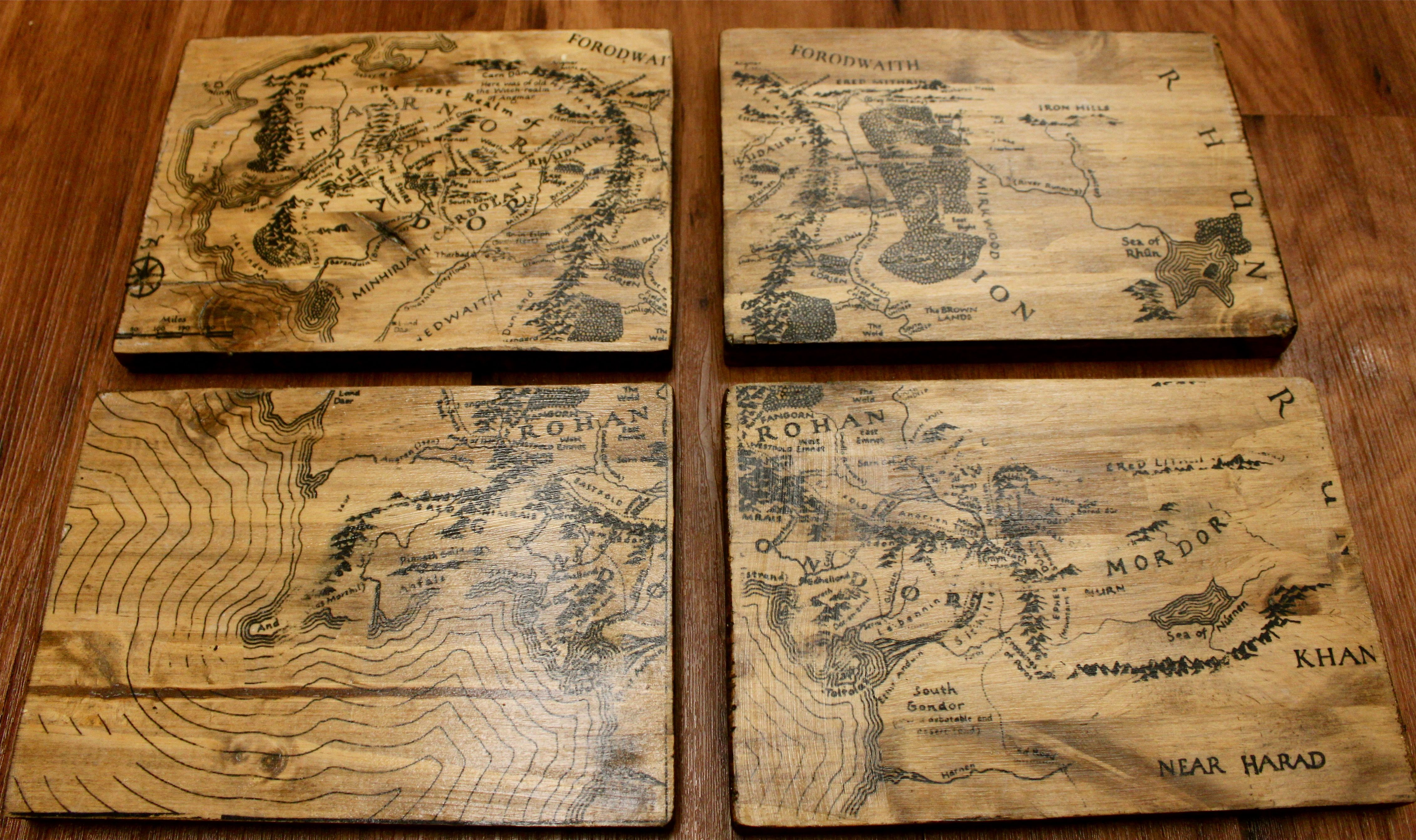 Lord of the Rings Map of Middle