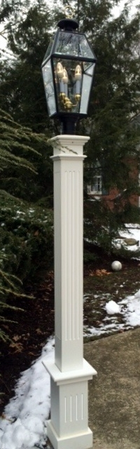 All azek 6x6x72 fluted lantern post sleeve with 18 fluted base all azek 6x6x72 fluted lantern post sleeve with 18 fluted base aloadofball Images