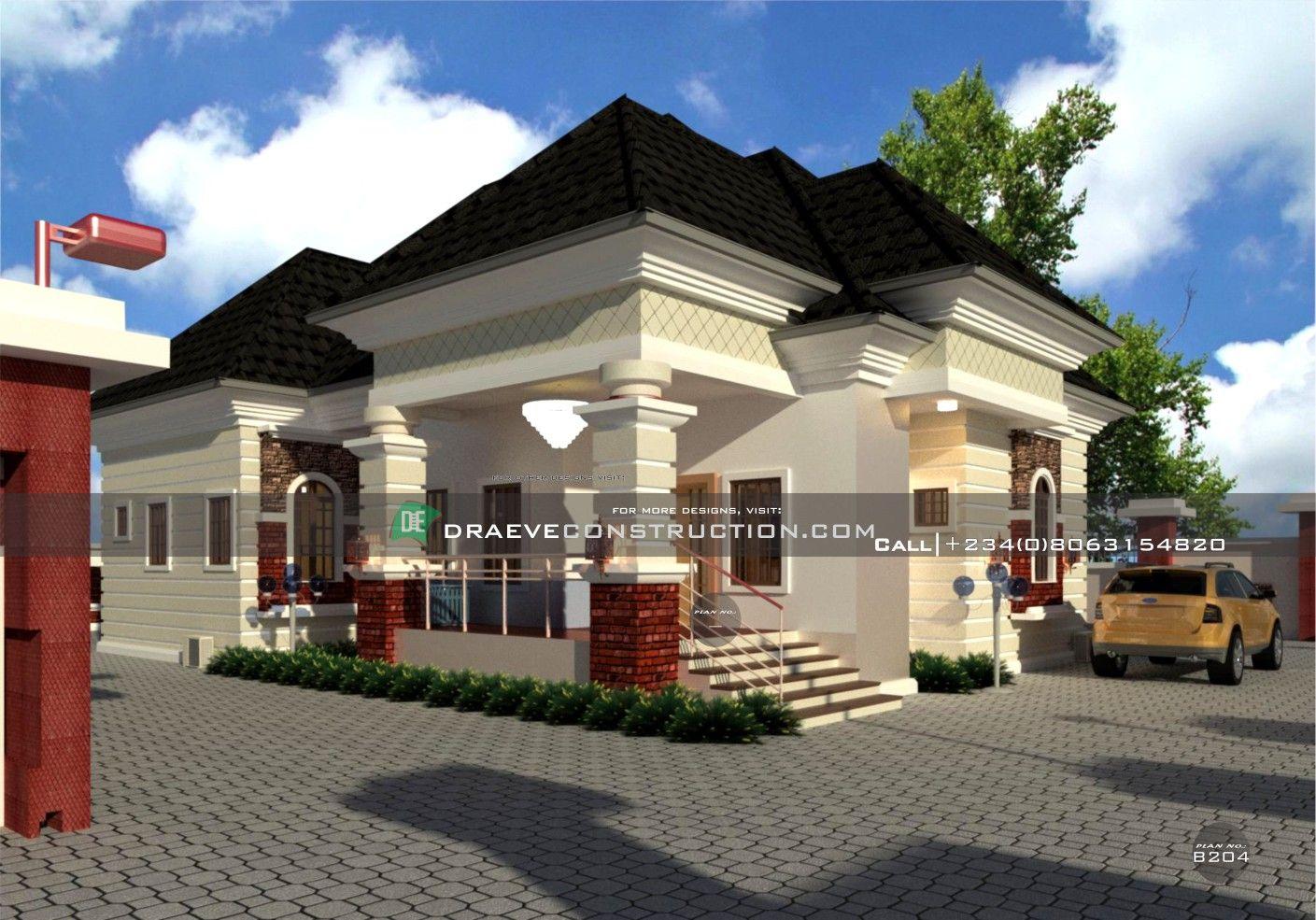 4 Bedroom Bungalow Design In Nigeria In 2020 Building House Plans Designs Bungalow Design Bungalow House Design