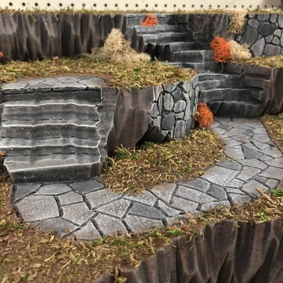 Custom Halloween Village Display Platform (Lemax, Department 56, Spookytown) #halloweenvillage Custom Halloween Village Display Platform Lemax Department image 4 #halloweenvillagedisplay