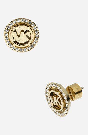 Michael Kors Monogram Stud Earrings Available At Nordstrom