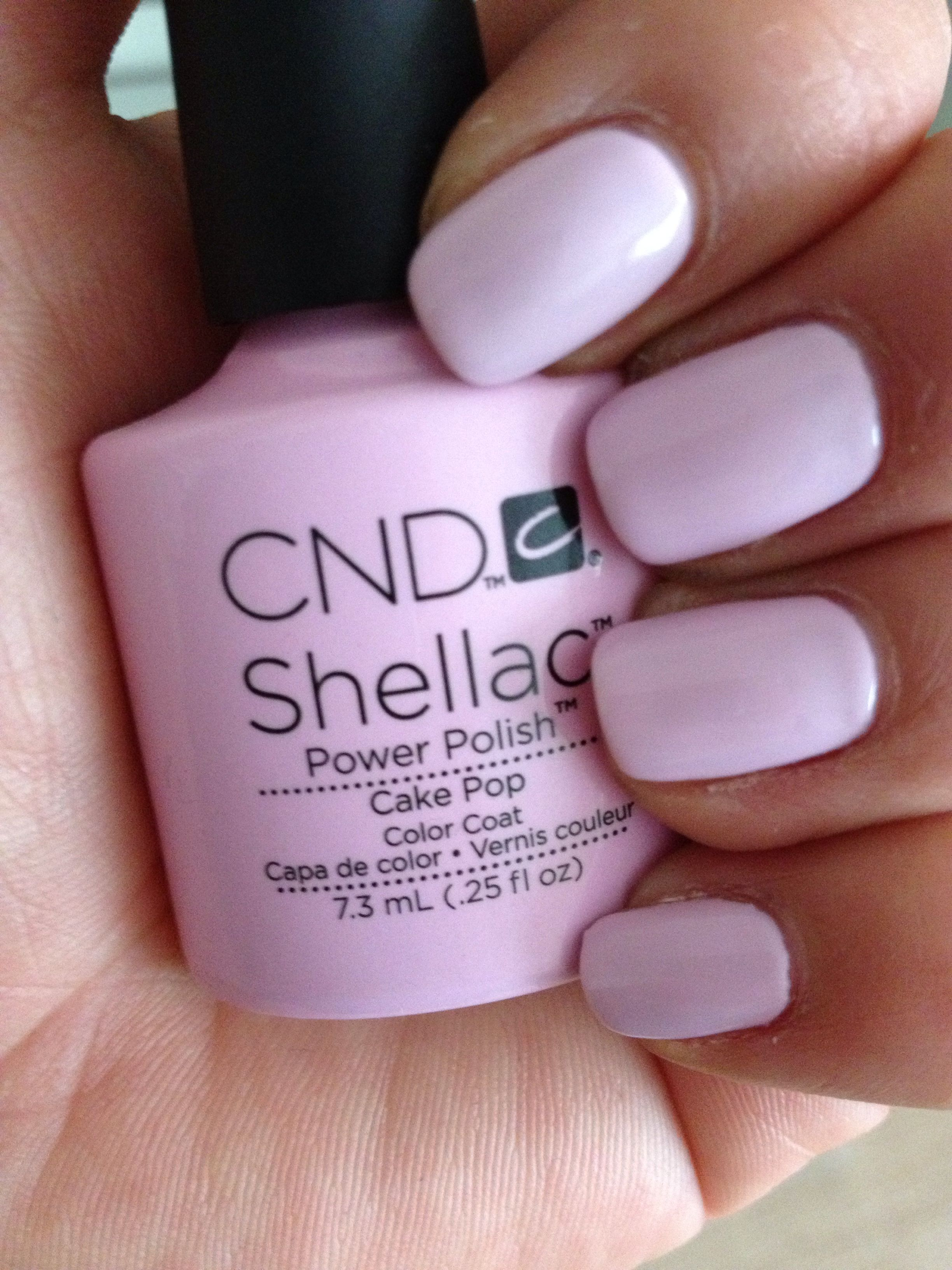 Cake Pop Cnd Shellac Pastell Nails