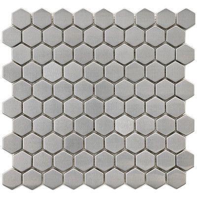 Metallic 1 X 1 Ceramic Mosaic Tile Ceramic Mosaic Tile Mosaic Wall Tiles Hexagon Tiles