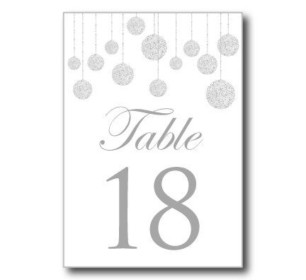 Printable Wedding Table Number Template String Lights Diy