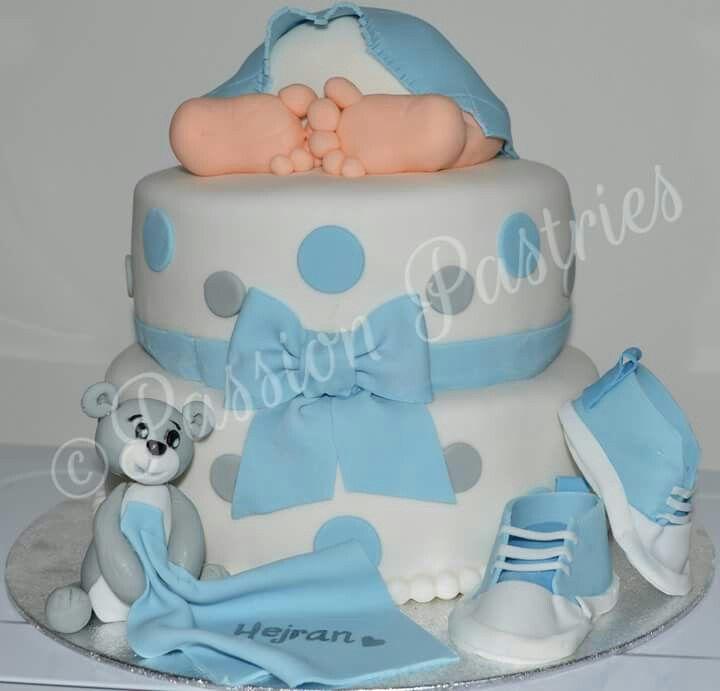 Cute babyshower cake for a boy