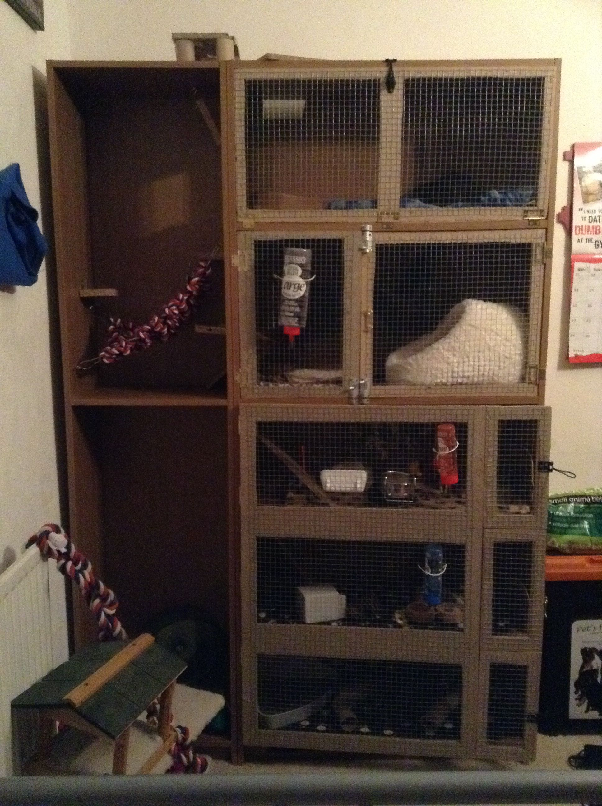 Homemade Rat Cage Made From My Old Bookcase