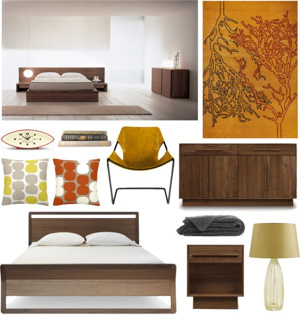 """""""peaceful bedroom with wood details"""" by at-home on Polyvore"""