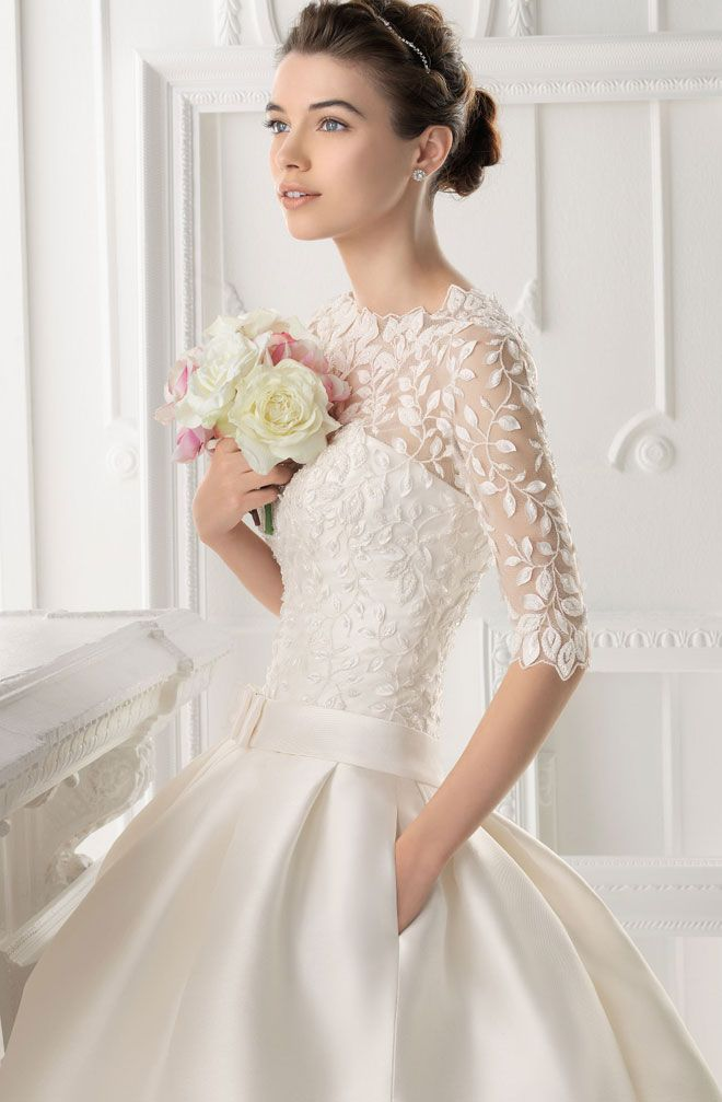 Aire barcelona 2014 bridal collection aire barcelona bridal airebarcelona 2014 wedding dress blush weddings bouquet ideas lace wedding dress with long sleeves junglespirit Choice Image
