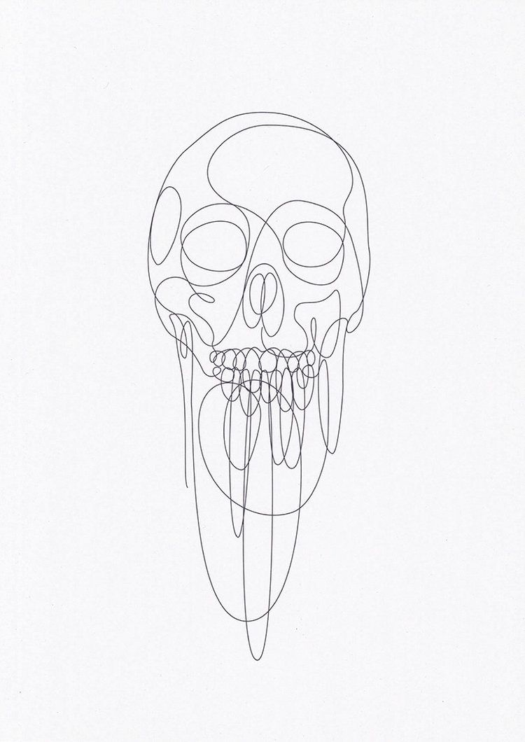 One Line Skull Drawing Deconstruction By One Line Designers Dft Aka Differantly Skull Drawing Art Line Art
