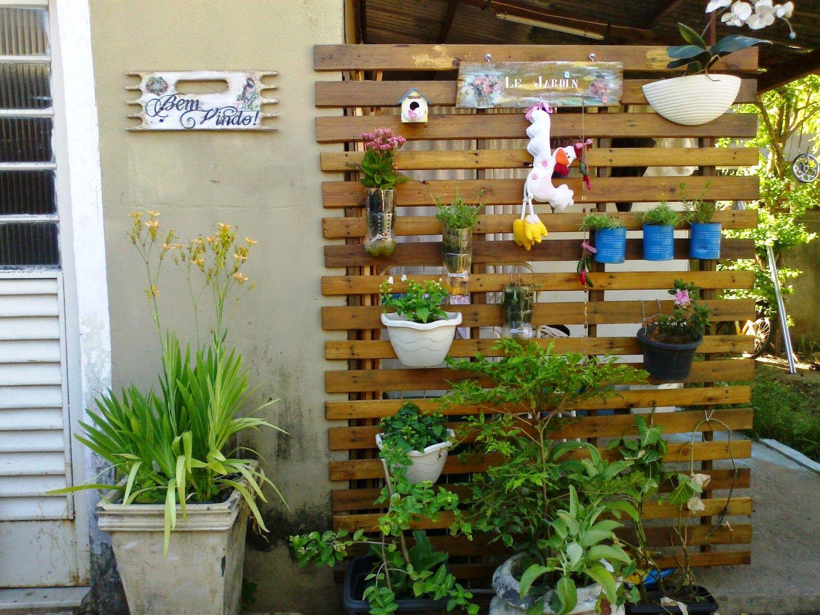 Juliana Valentim: {DIY} Jardim vertical com estrado de cama | DIY ...