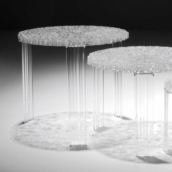 T-Table Sidobord II, Kristall, Kartell | Inredning | Pinterest ...