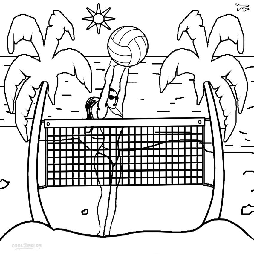 Printable Volleyball Coloring Pages For Kids Cool2bKids Sports