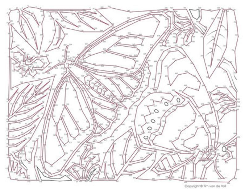 Butterfly Extreme Dot To Dot Connect The Dots Pdf In 2021 Dot To Dot Printables Dots Connect The Dots