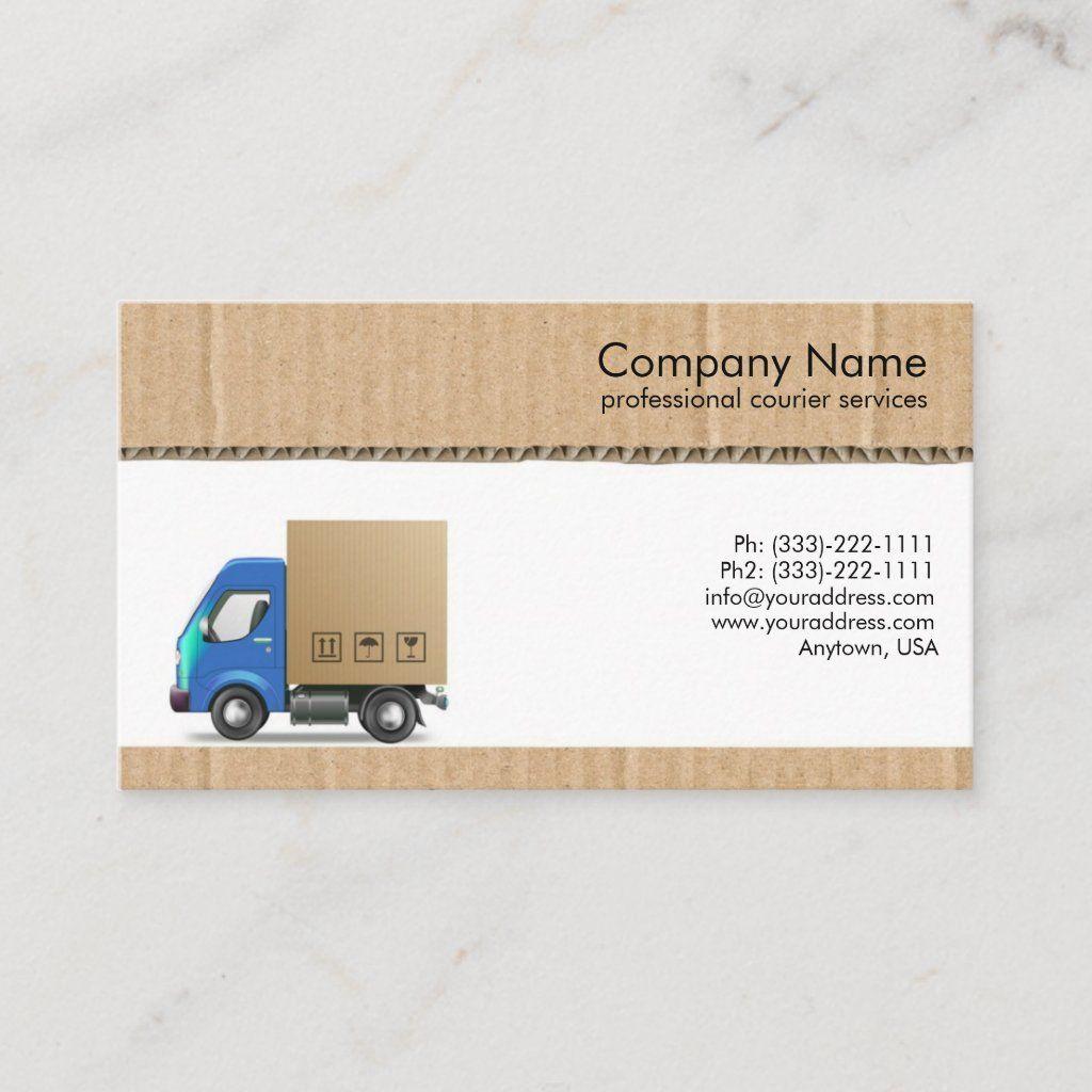 Courier Services Business Card Zazzle Com Courier Service Business Services Business Courier Service