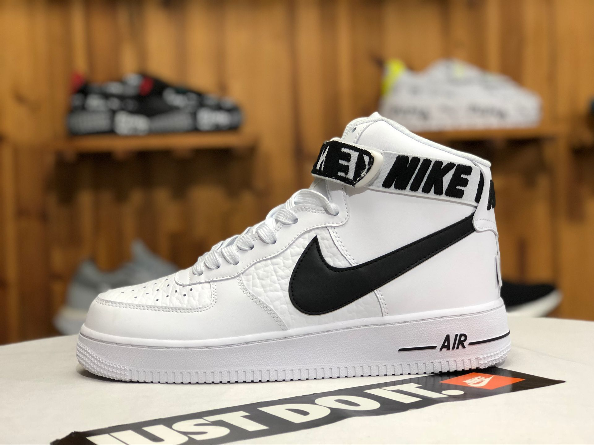 Nike Air Force 1 High 07 Nba Pack White Black With Strap Sneakers Nike Shoes Air Force Air Force One Shoes Womens Basketball Shoes