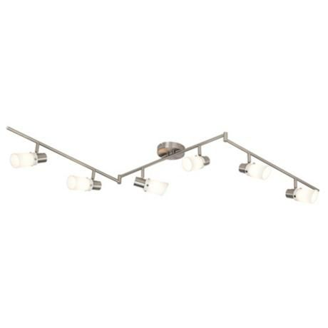 White Gl 71 Wide 6 Light Bendable Ceiling Fixture