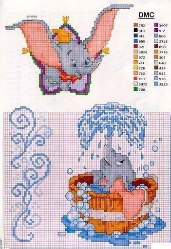 Gráficos do Dumbo para Ponto Cruz   Stickmotive