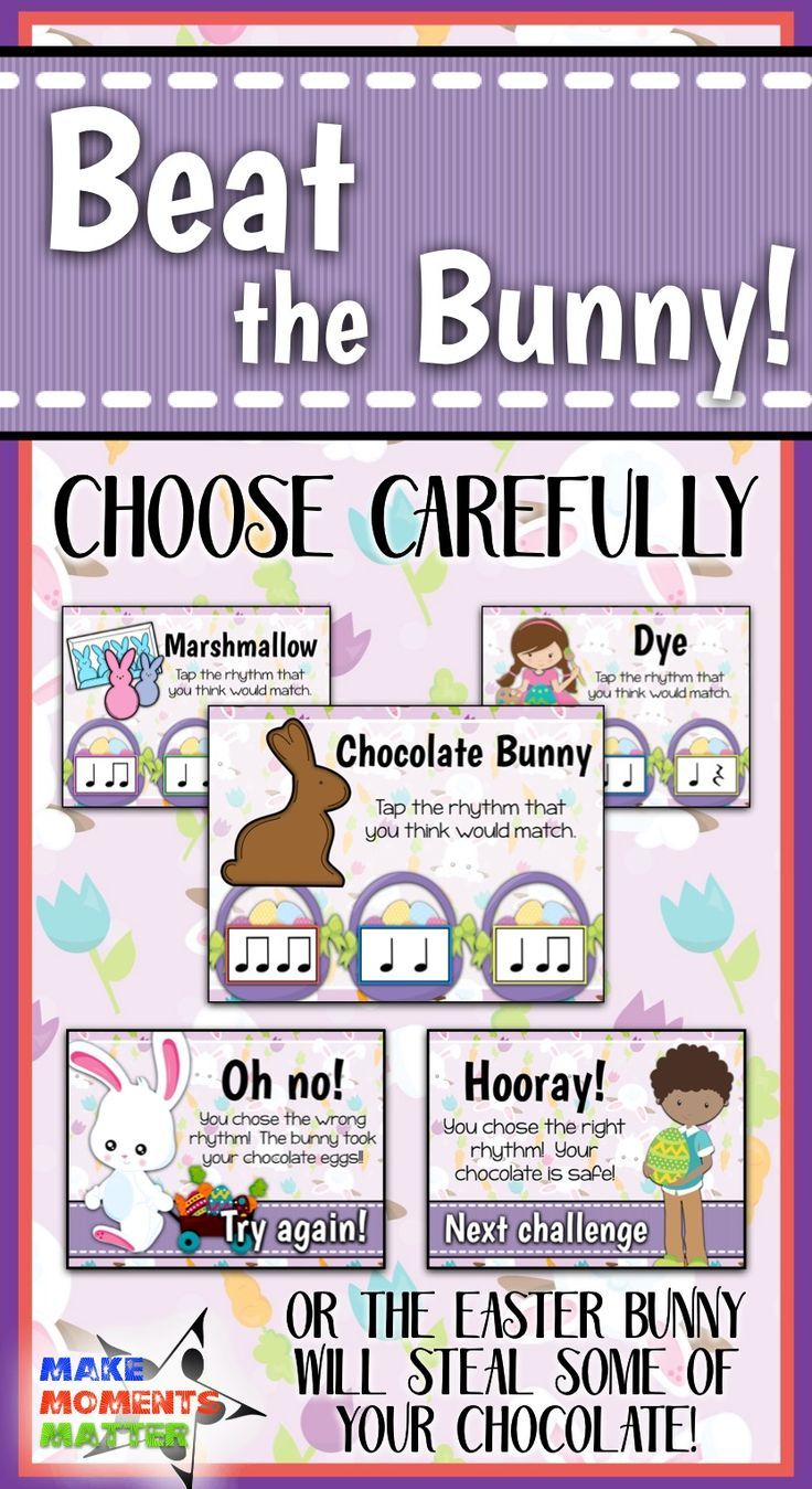 Beat the Bunny - Easter Bunny Interactive PDF game to ...