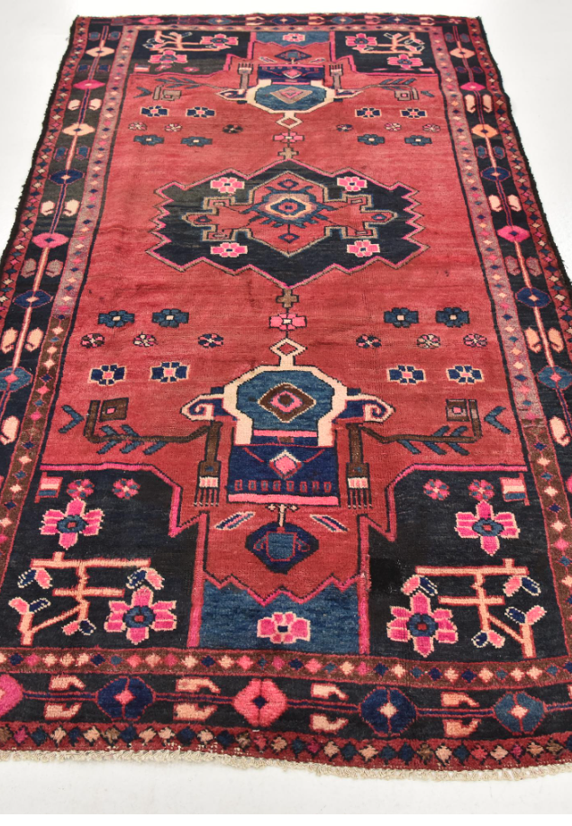 4' 4 x 8' 2 Hamedan Persian Rug Rugs for the Home in