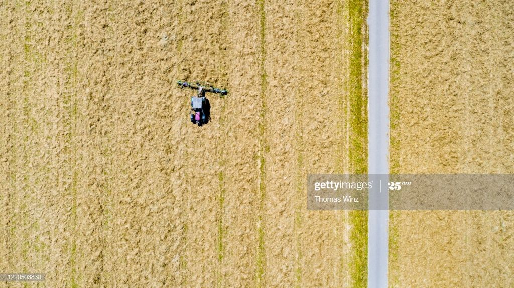 Traktor Turning Hay In A Agricultural Field From Directly Above Photography #Ad, , #Aff, #Hay, #Turning, #Traktor, #Photography