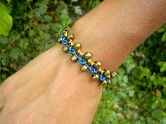 Ethnic gipsy macrame bracelet / bohemian jewel / hippy bracelet