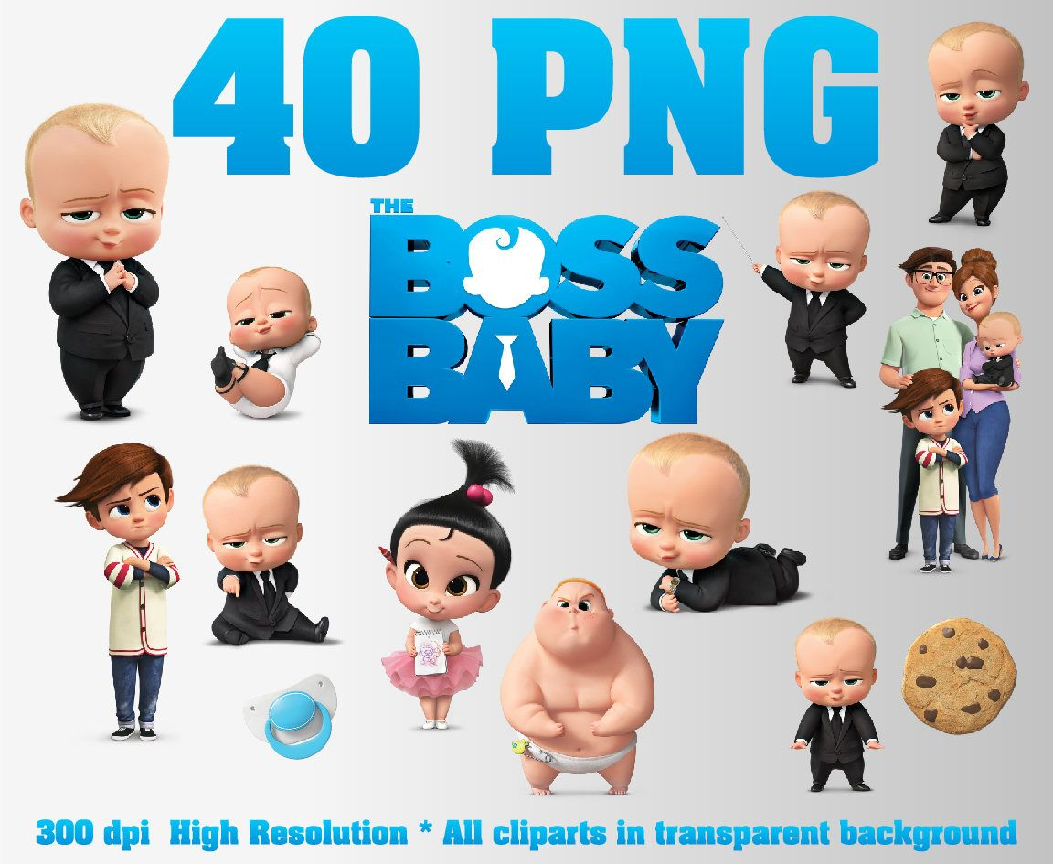 The Boss Baby Clipart 40 Png 300 Dpi Transparent Background Boss Baby Party Decorations The Boss Baby T Boss Baby Baby Party Decorations Baby Birthday