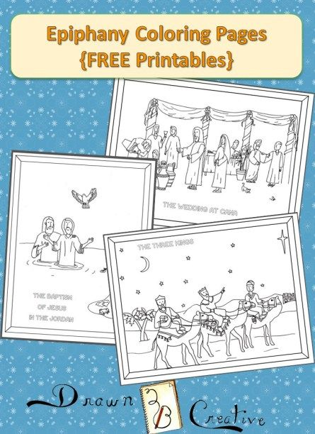 Epiphany Baptism Of Jesus And Wedding Feast Cana Coloring Pages