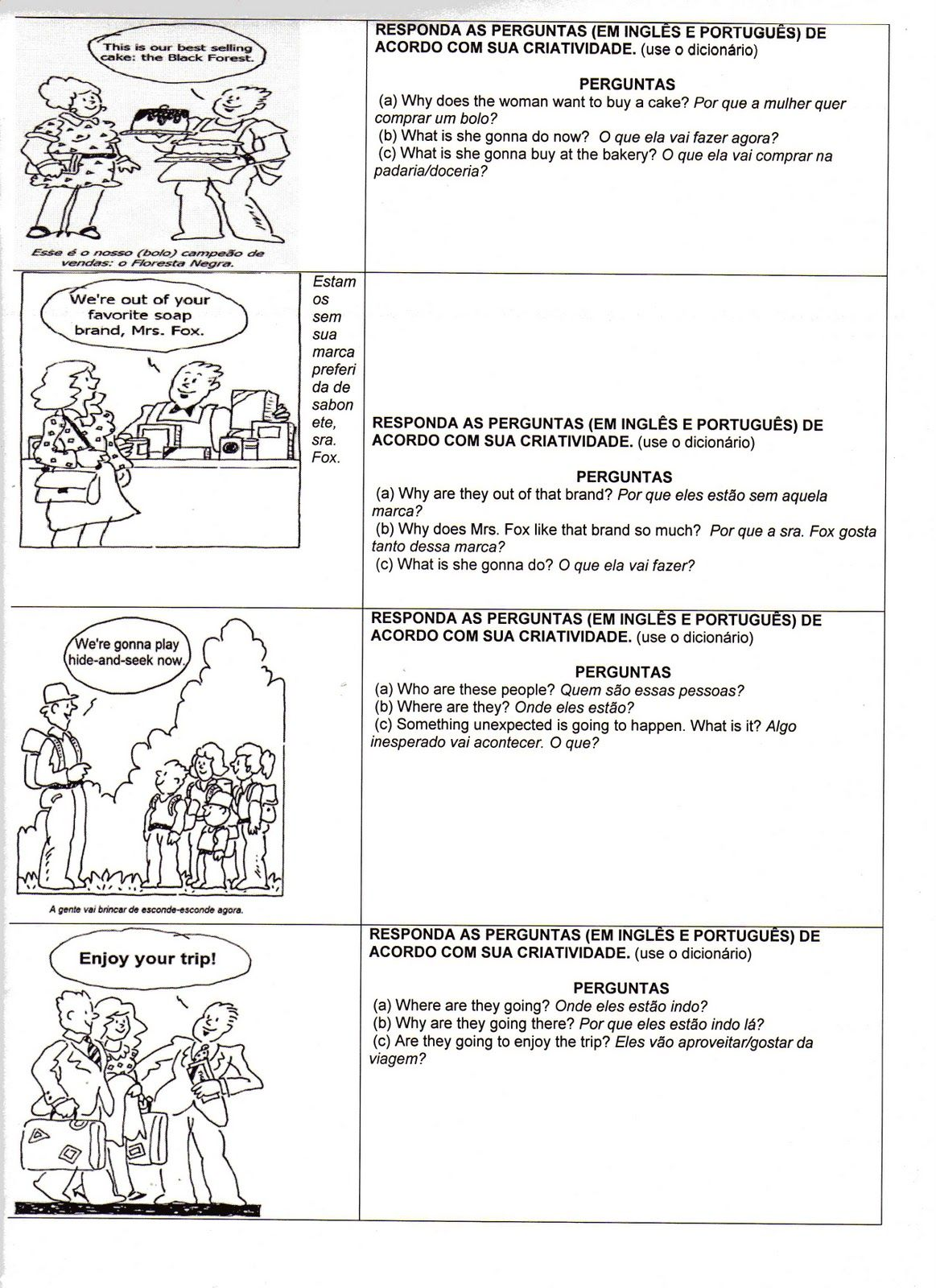 Ingles 1 Atividades De Ingles Traducao Atividades De Ingles