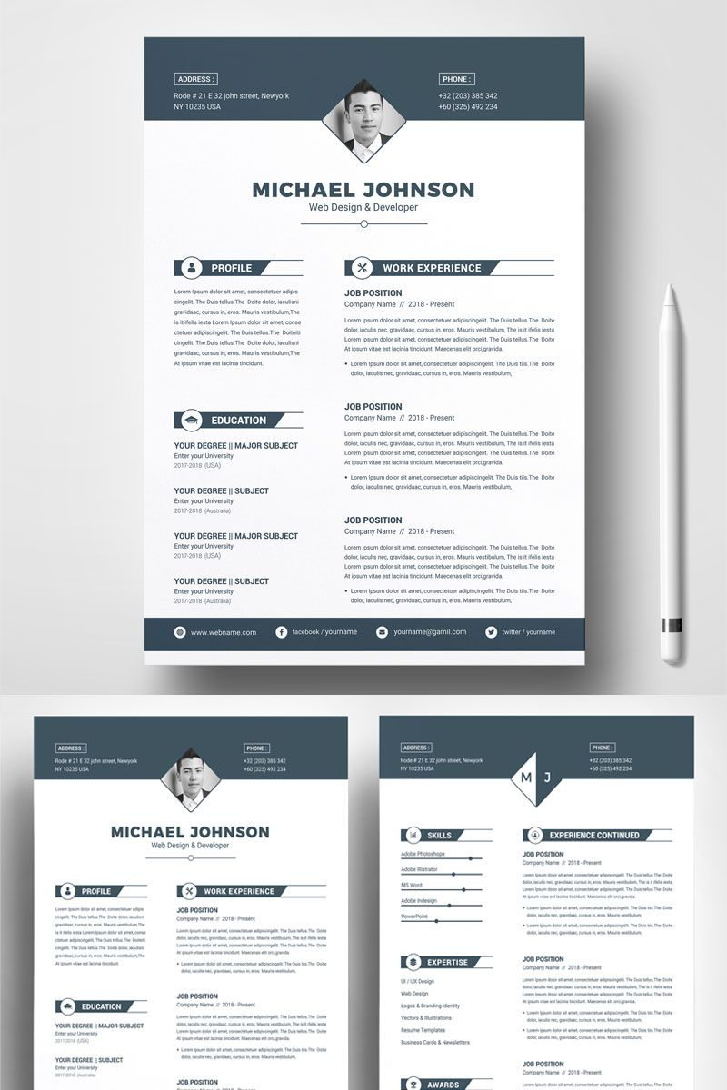 Michael Johnson Resume Template 74170 (With images