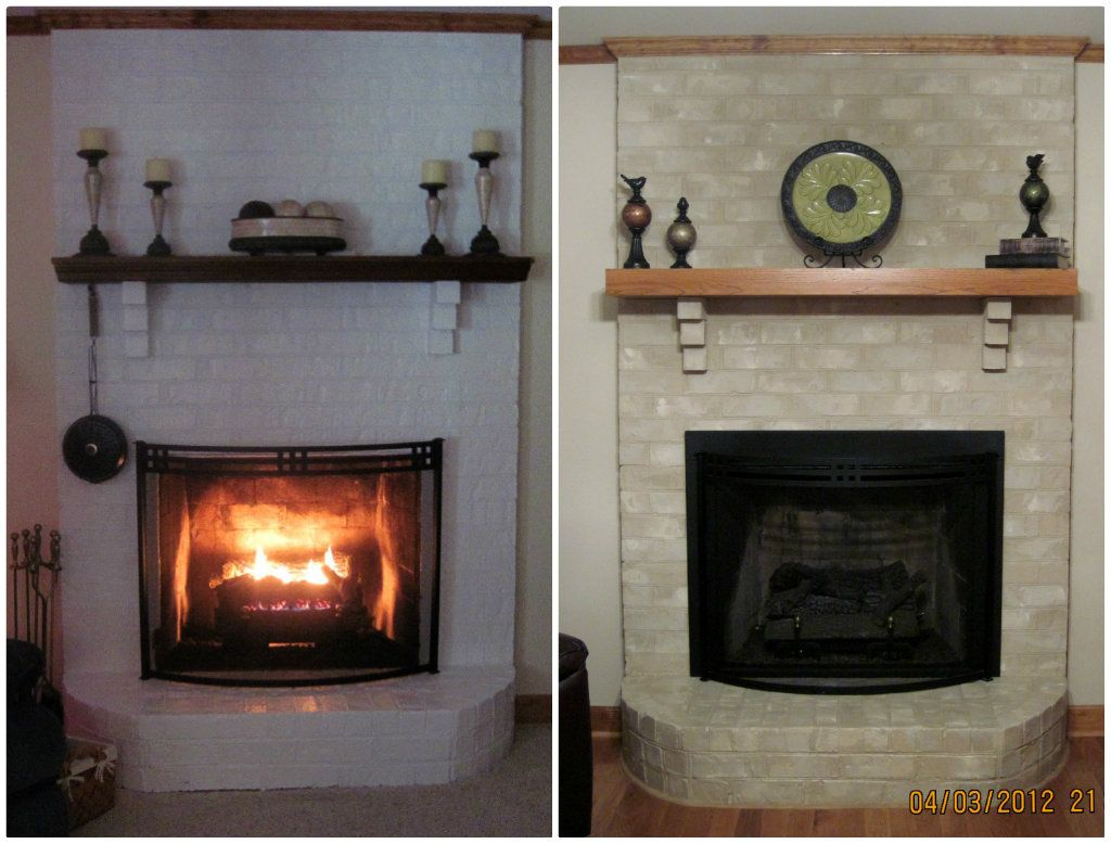 Removing Paint From Brick Fireplace Brick Anew Dyi Articles White Painted Fireplace Fireplace Redo Brick Fireplace