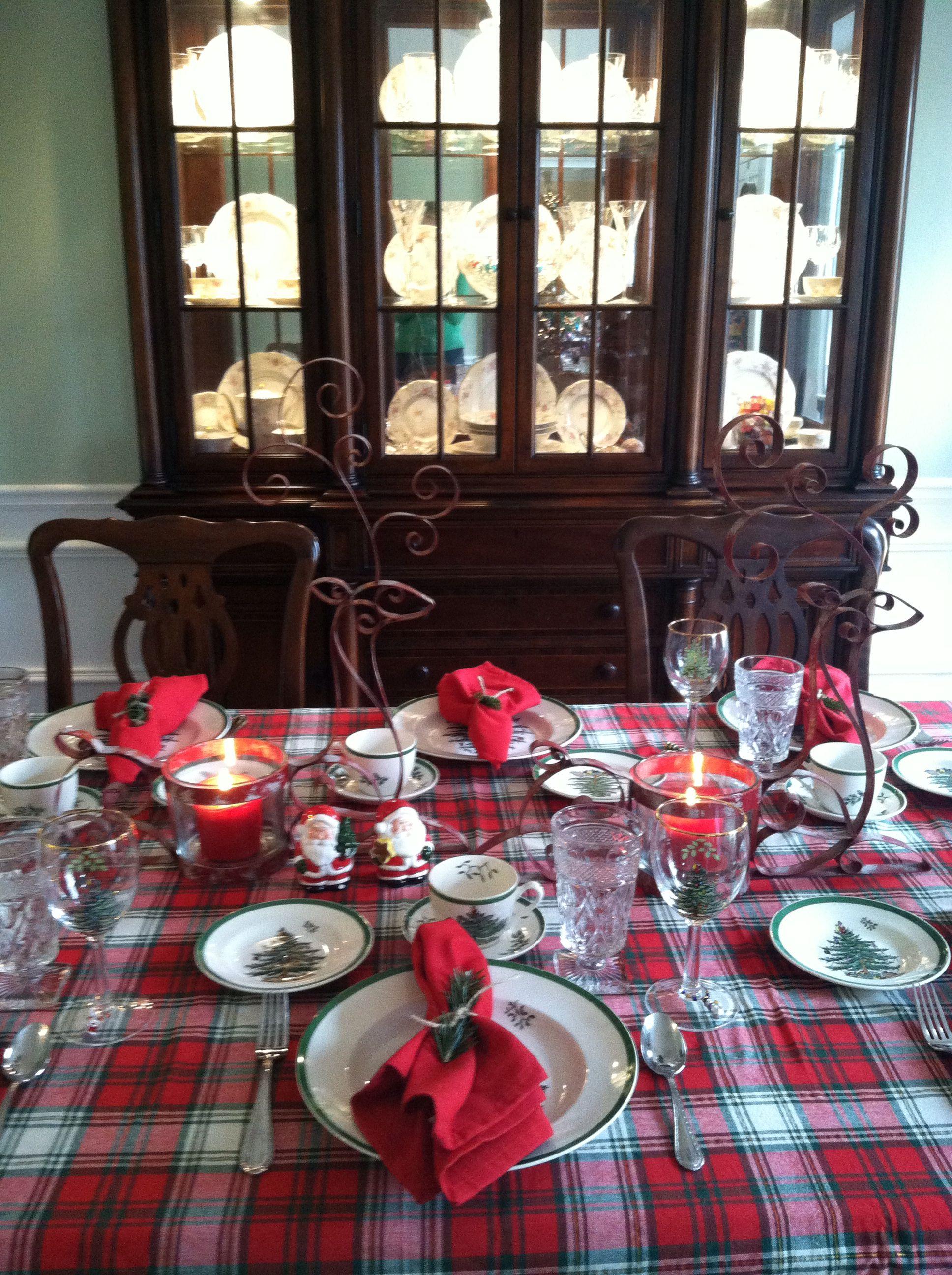 Plaid Christmas Tree Spode Christmas Tree Table Setting Hg Christmas Table Settings