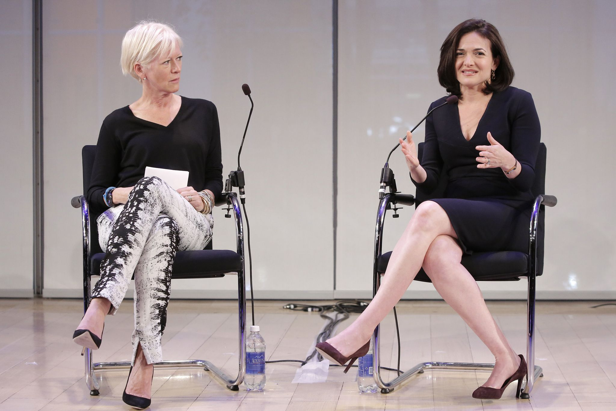 "https://flic.kr/p/gjRcmC | Day 1 Advertising Week 10 | Joanna Coles, Editor in chief at Cosmopolitan and Sheryl Sandberg, COO at Facebook participate in the ""Lean In"" panel on day 2 at Advertising Week 10 in New York September 24, 2013.  Insider Images/Andrew Kelly (UNITED STATES)"