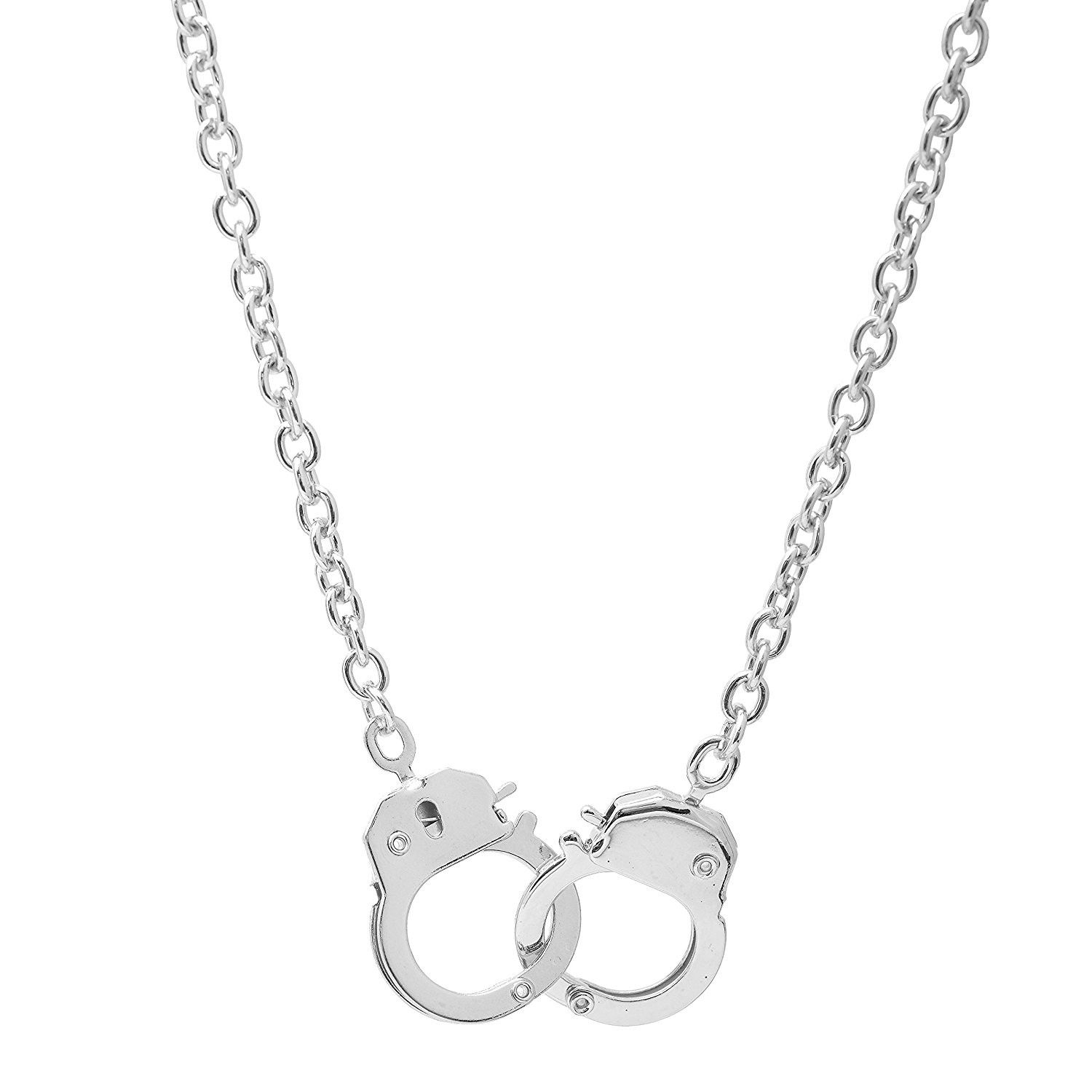 Rose Gold Tone over Sterling Silver Polished Handcuff Necklace
