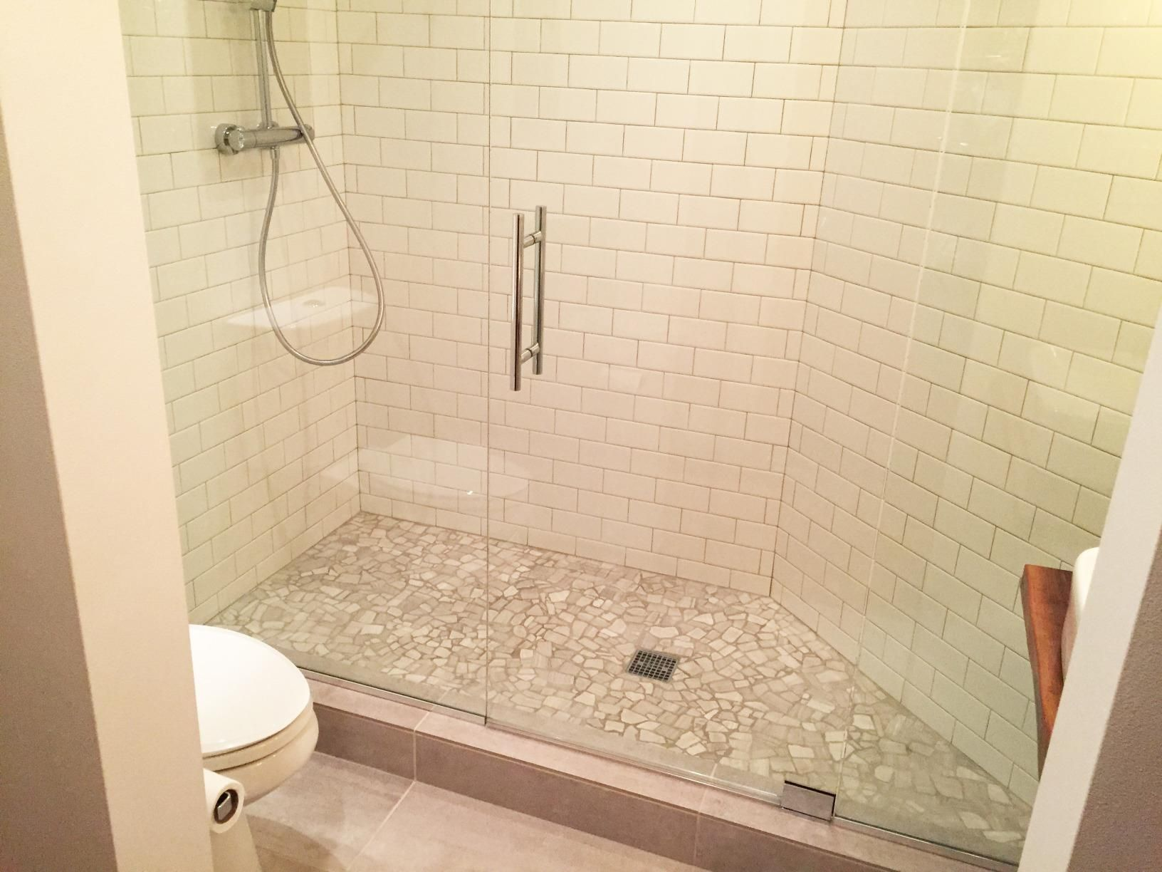 This Kohler K 9136 Cp Square Design Tile In Shower Drain Is Easy