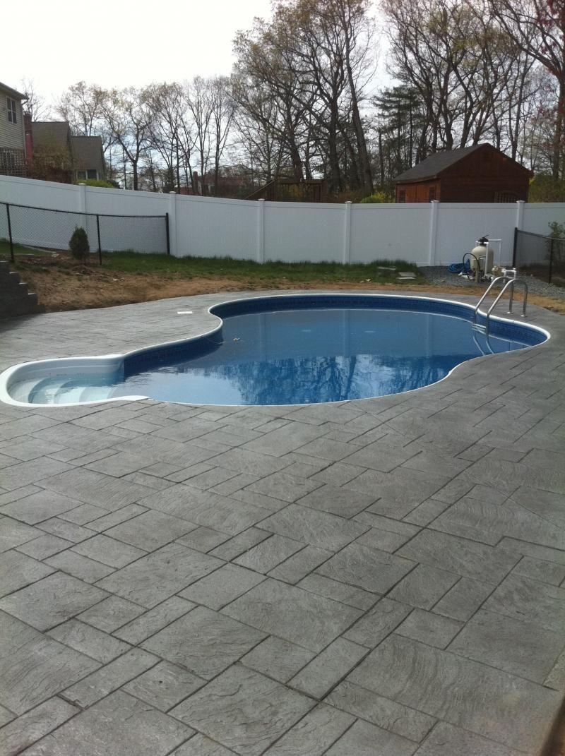 stamped concrete pool deck apron ri rhode island Artistic stamped ...