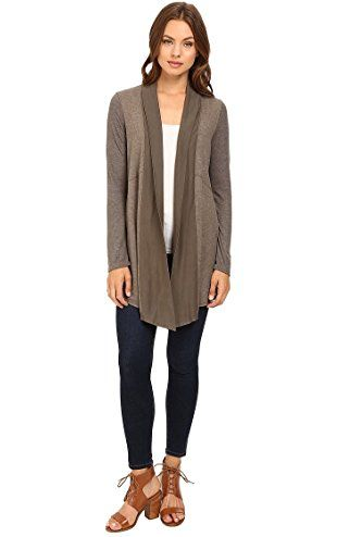3de37fe9af54ae Splendid Women s Heathered Thermal Cardigan Military Olive Sweater XS ( Women s 0-2) ❤