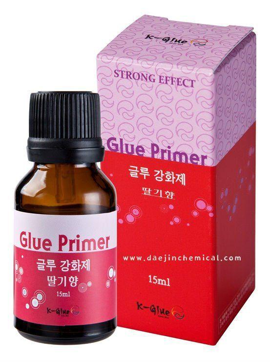 15ml/bottle Eyelash Glue Primer For Individual Fake Eyelashes Extension Application Strawberry Scent Free Shipping
